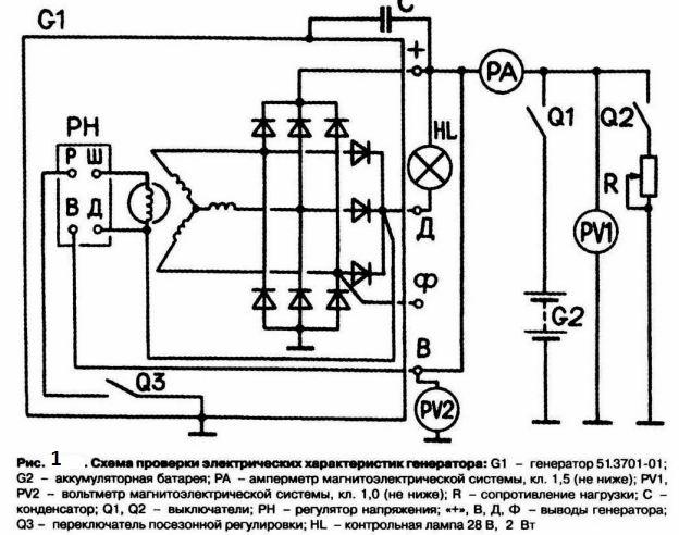 Стартер газ-3110 схема